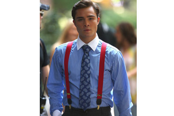 Chuck channels his inner geek with suspenders