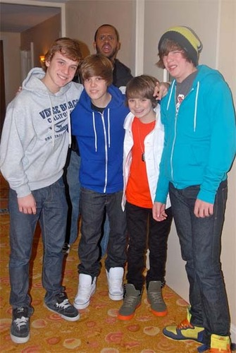 Justin Bieber and Buddies
