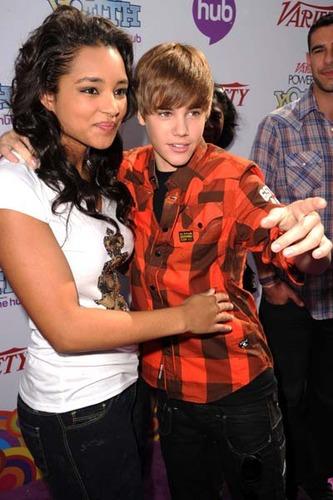 Jessica Jarrell and Justin Bieber