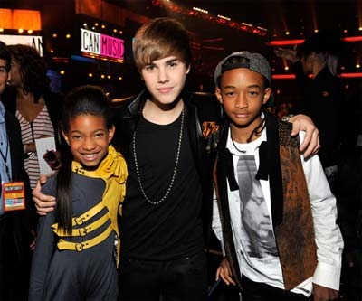 Willow Smith, Justin Bieber and Jaden Smith
