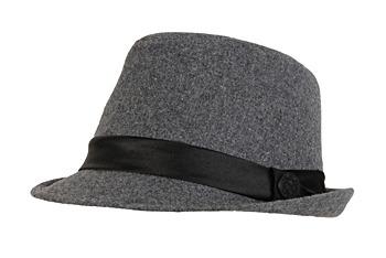 Grey fedora hat, $15, at Garage Clothing