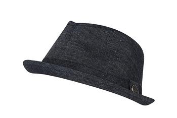 Denim fedora hat, $14, at American Eagle