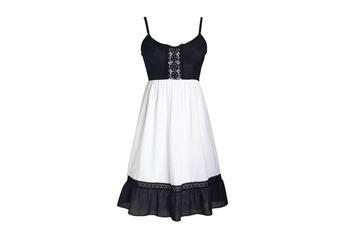 Colorblock dress, $44.50, at Delias.com