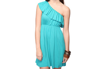 Ruffle dress, $14.80, at Forever 21