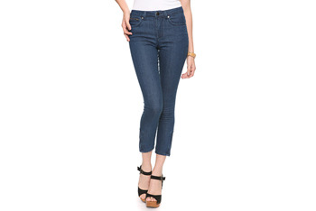 Denim capris with ankle zippers, $19.80, at Forever 21