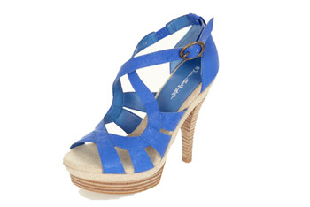 Blue sandals, $20, at Miss Selfridge