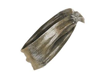 Metallic twist head wrap, $8, at NewLook.com