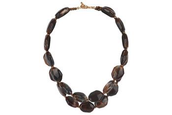 Marbled bead necklace, $7.80, at Delias.com