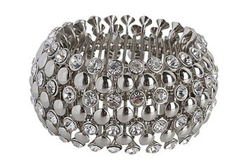 Glitzy stretch bracelet, $12.80, at Forever21.com