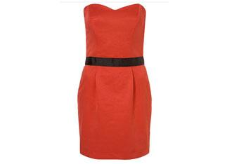 Red rose bandeau dress, $98, at Topshop.com