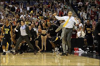 Excited VCU Coach