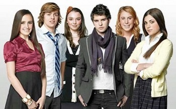 Kelli with the cast of NYC Prep