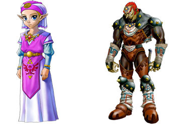 Princess Zelda and Ganondorf