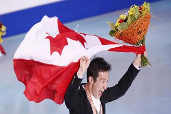 Patrick Chan win Gold