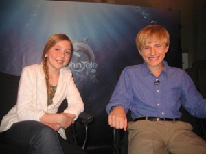 Cozi and Nathan at the interview