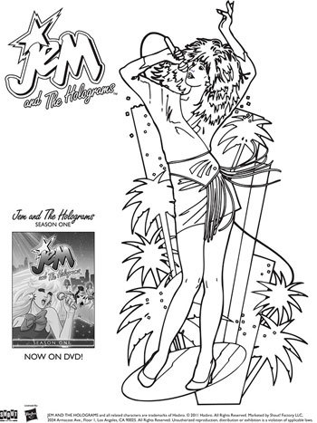 jem coloring pages | Truly Outrageous Coloring Sheets For Jem & The Holograms