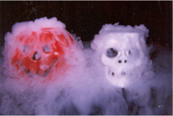 Add Dry Ice and Warm Water to Make Spooky Smoke