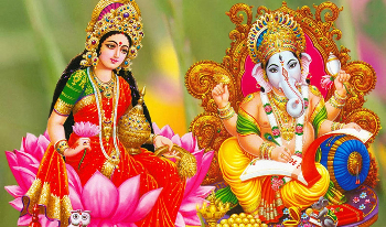 On Diwali you make offerings to Lakshmi and Ganesh for wealth and good luck
