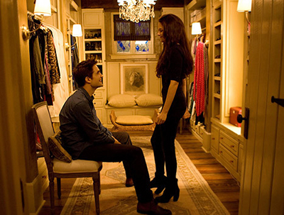 Edward with Bella in their cottage