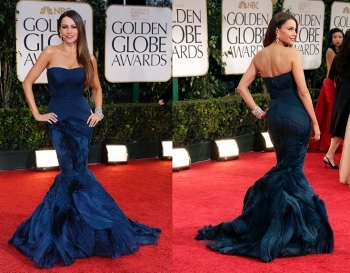Sofia Vergara was a midnight blue bombeshell at the awards
