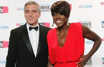 Best Actor George Clooney and Best Supporting Actress Nominee Viola Davis