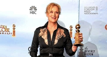 Best Actress Winner Meryl Streep asked the audience to give her...her glasses!