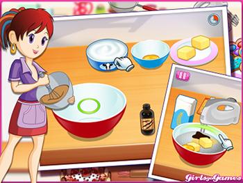 Sara cooking