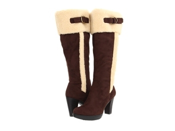 Naturalizer makes a high-heeled boot with an Ugg feel