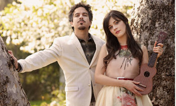 Zooey and M.Ward write and perform songs together as She