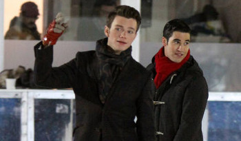 Kurt and Blaine go ice skating