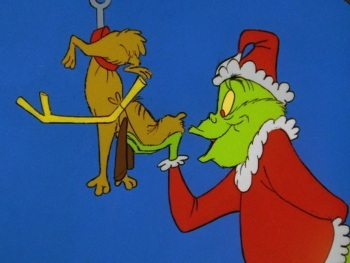 Grinch plans to ruin Christmas in Whoville