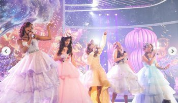 The girls revisited their magical tea party on 'Anything Can Happen'