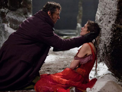 Valjean (Hugh) finds Fantine (Anne)