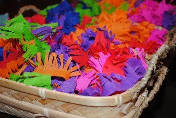 Pinatas have always traditionally been decorated with fringed colorful tissue paper