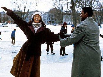 Whitney starred in The Preacher's Wife alongside Denzel Washington