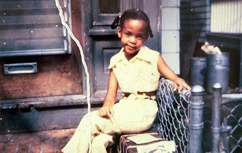 Whitney Houston when she was a kid.
