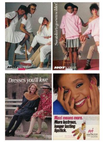 Whitney modeled before hitting the big time