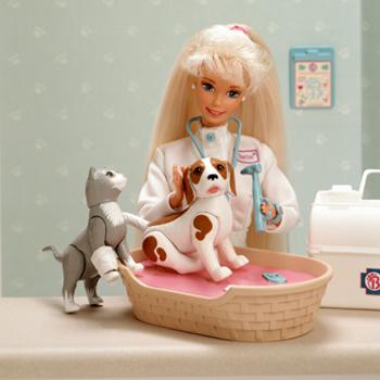 Barbie has had all kinds of careers, like Veterinarian!