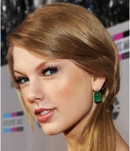 Taylor Swift often adds shimmer to her evening makeup kit