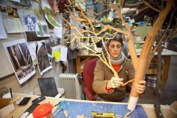 Prop tree under construction