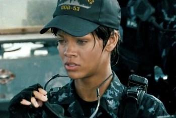 Rihanna as Cora Raikes on the job