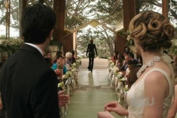 Naomi interrupts Max and Madison's wedding.