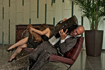 Guests of Chateau Bow Wow get drenched by Shakey
