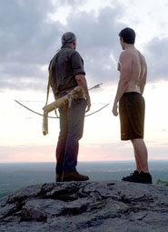 Brandon as Joe with tribal elder