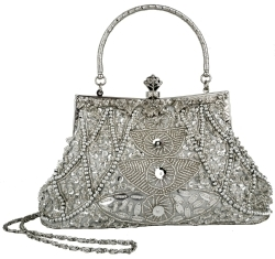 Sequinned purse