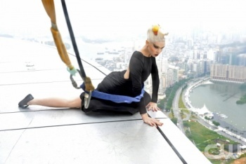 Posing on a High Rise