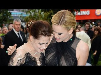 Kristen and Charlize at the premiere
