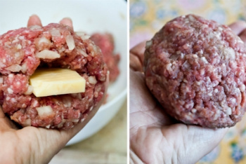 Inside-Out Cheeseburger Preparation