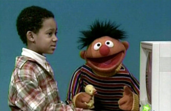 Tyler got his first on screen break in Sesame Street