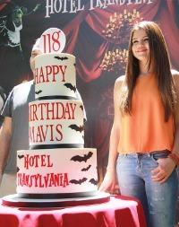 "Selena at the ""Hotel Transylvania"" event"
